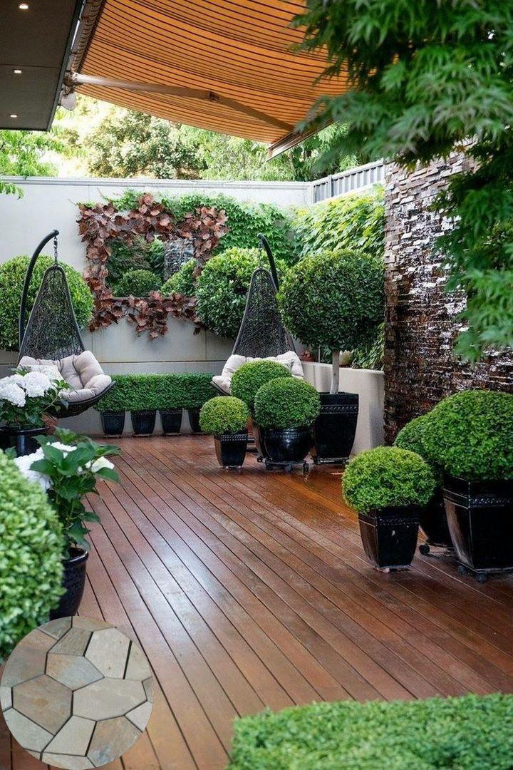 Terraced Patio Ideas In 2020 Small Courtyard Gardens Backyard