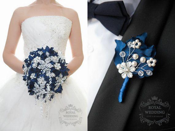 Hochzeit Brosche Bouquet Kaskadierung von RoyalWeddingDecore