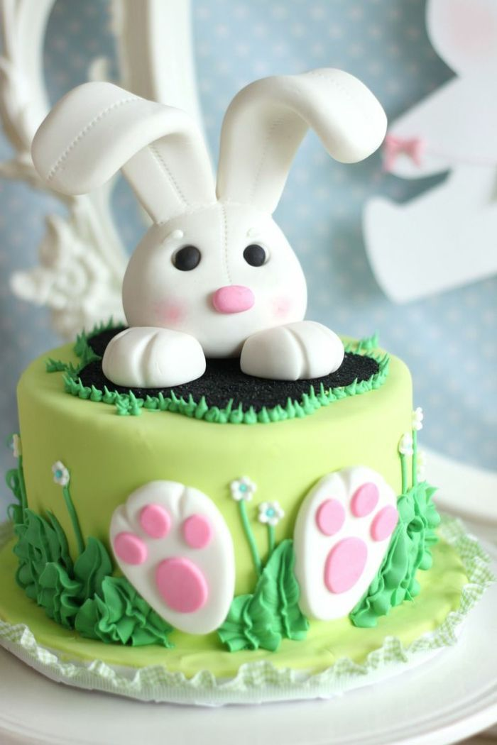 Easter tarts green pie easter bunny flowers   – Geburtstagskuchen für Kinder