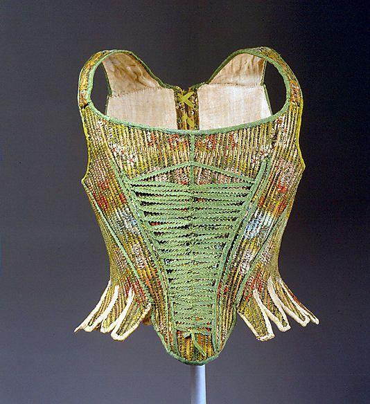 Corset Date: late 1760s  Culture: French  Medium: silk
