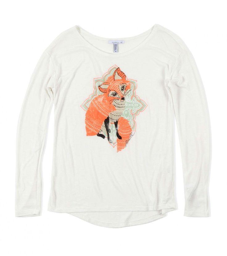 GIRLS FOXFACE TEE, O'Neill Little Girls, Holiday 2013, Designer: Kendal Riley
