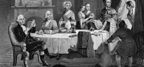"""<strong>1781</strong><br />Despite <a href=""""/topics/history-of-america/occupation"""">occupation</a>, devastation, and inflation running at 800%, one in five New Yorkers are still loyal to the British. Robert Townsend writes for the pro-British press and appears to be one of these loyalists. But..."""