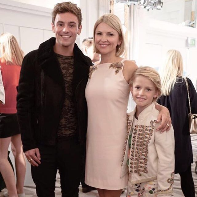 Our Creative Director Mariya Dykalo with Team GB's Tom Daley at our Spring/Summer '17 Presentation #LFW #AspinalSS17