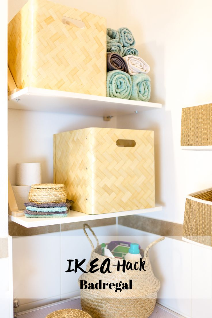 Stauraum für kleine Badezimmer IKEA Bad GODMORGON Waschbeckenunterschrank Stauraum Ideen für kleine Badezimmer mit Ikea Hacks I Kleine Bäder einrichten I Bullig I