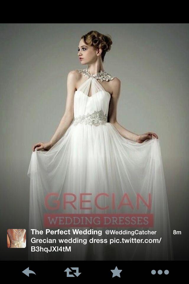 Grecian Wedding Dress I Love This Look