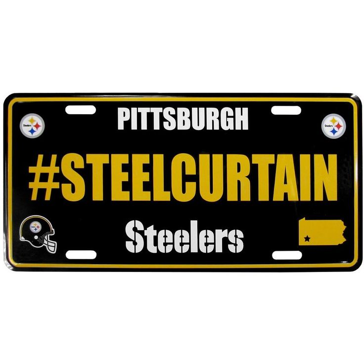 ~Pittsburgh Steelers License Plate Hashtag~ backorder