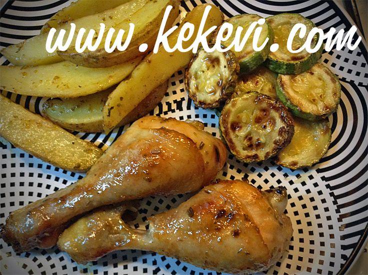 Ballı Limonlu Fırında Tavuk Baget ve Patates – Kekevi.com – Ayşenur Altan