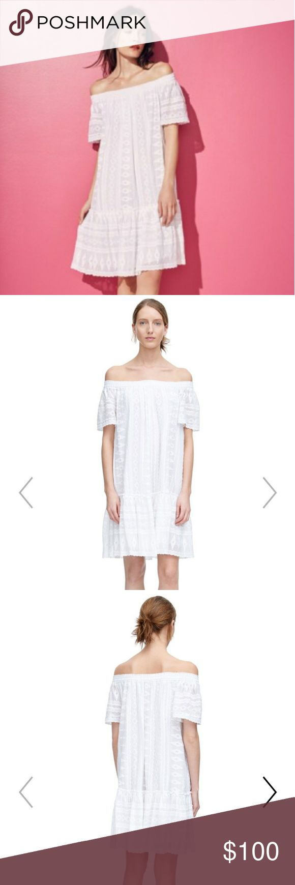 Rebecca Taylor Dress Lovely Rebecca Taylor white off the shoulder embroidered Rebecca Taylor dress 100% cotton New without tags - never worn Rebecca Taylor Dresses Midi