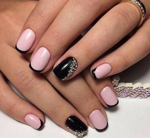 White Nail Polish With Glitter -3 Color French Manicure