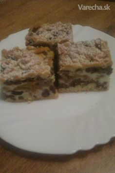 Strúhaný tvarohovo-jablkový koláč (fotorecept)