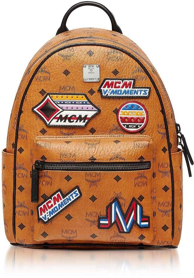 MCM Small Cognac Victory Patch Visetos Stark Backpack  e41f1da0a80a6