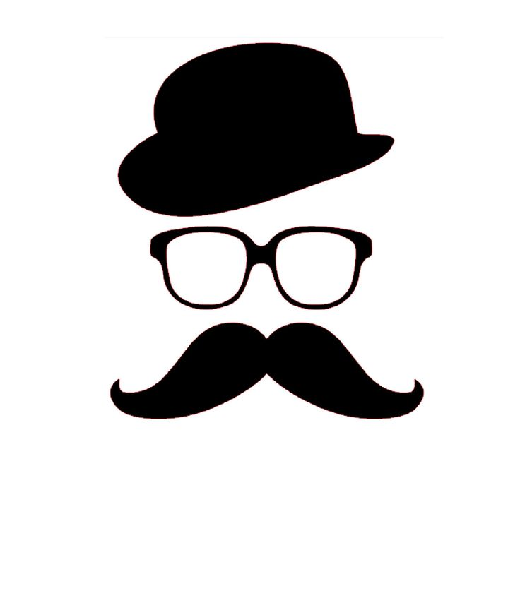 Moustache lunettes chapeau