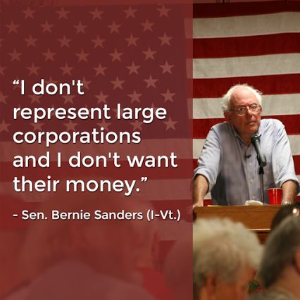 Bernie Sanders refuses to be bought out. (Isn't that how they should ALL be?!?!)