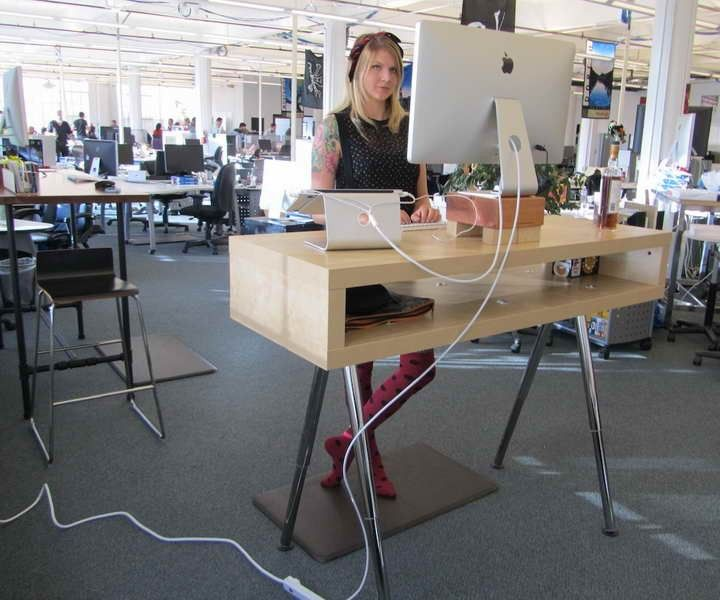 Ikea standing desk hack ideas office space pinterest for Ikea stand up pupitres