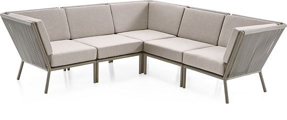 Morocco Light Grey Lounge Collection Crate And Barrel Outdoor Sectional Sofa Outdoor Furniture Covers Furniture