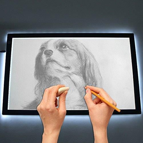 A4 Adjustable Ultra Thin Led Copy Board Light Box Tattoo Table Stencil Board Lightbox Ideal For Artists Designers And Photogr Light Box Dimmable Led Drawings