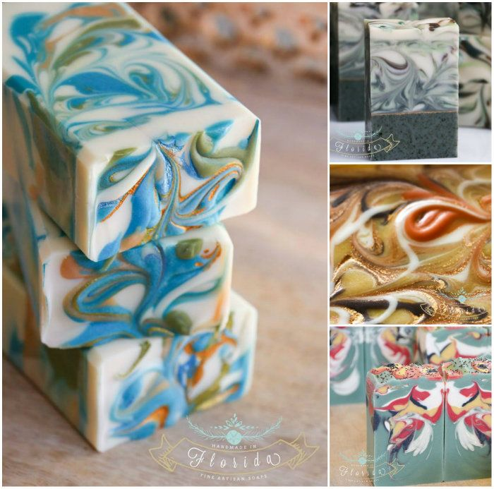 A collection of Zahida's beautiful soap. Handmade in Florida.