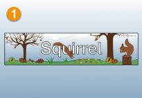 Title for the Squirrel Lapbook for Children. More lapbook resources available at www.kigaportal.com!