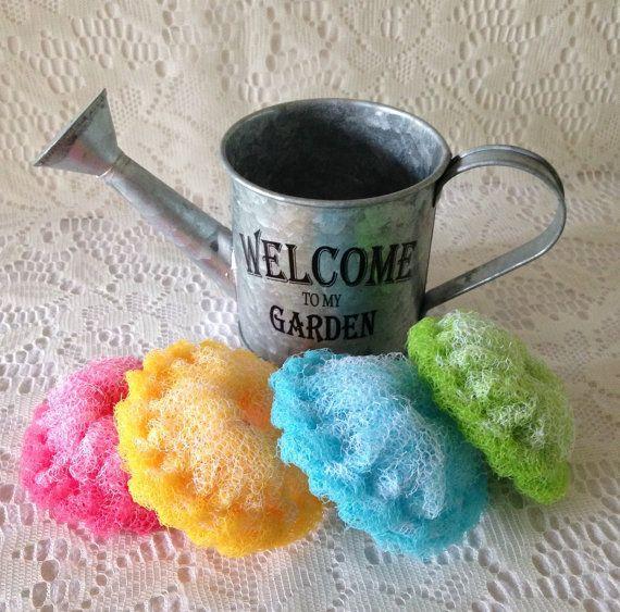 Nylon Pot Scrubber Watering Can Set  Mini by AllSylviasCreations