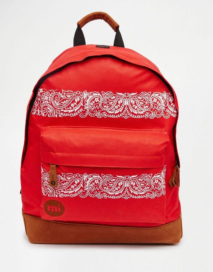 Mi-Pac+Bandana+Bright+Red+Backpack