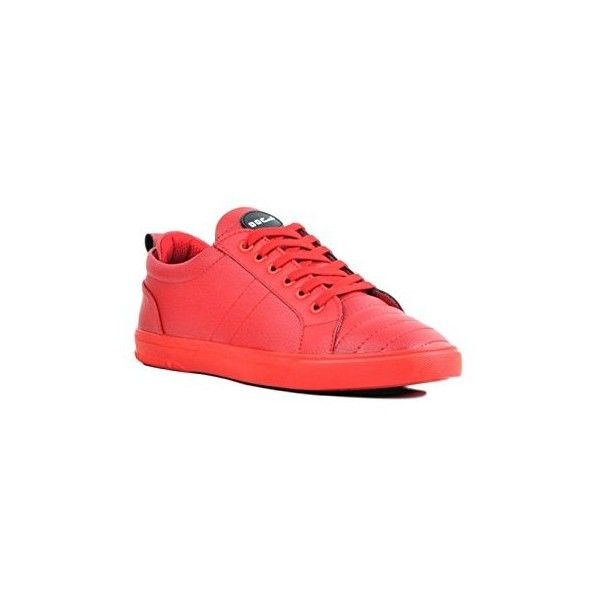 DOC Martin Men Groove Red Sneakers ❤ liked on Polyvore featuring men's fashion, men's shoes, men's sneakers, men's low top shoes, men's low top sneakers, mens sneakers, mens red sneakers and mens red shoes