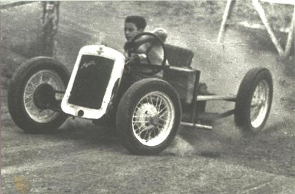 From farm yard to race track legend, young Peter Brock in action. Real talent is often seen early.