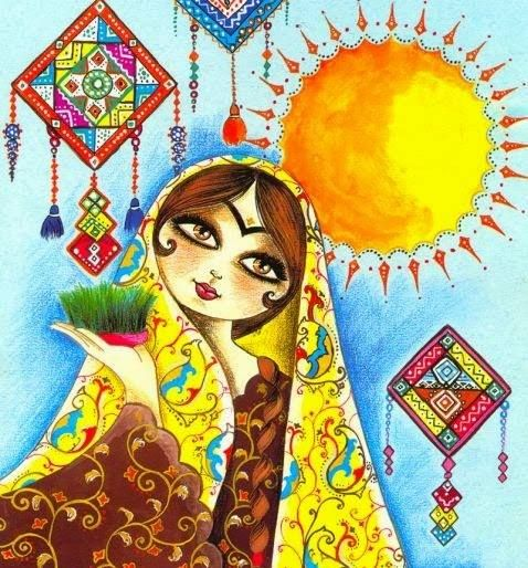 whimsical persian girl