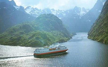 """The Hurtigruten!  Remember that trip departing from Bergen?  Little sailor that you were...you got seasick and Nana yanked you to the upper deck for some fresh air and made you eat a banana. Very effective I'm sure. """"Breathe the fresh air, Bethany. Breathe the fresh air!"""""""