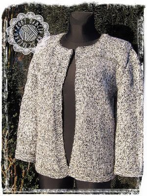 Robi Gabcia Na Szydełku: Swetrowy żakiet #RobiGabciaNaSzydelku #sweternadrutach #sweter #knitsweater #knitjacket