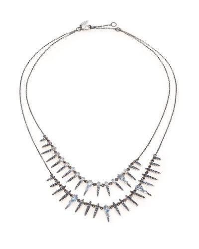 Alexis Bittar Fine | Metallic Midnight Marquis Blue Quartz, Sapphire & Sterling Silver Double-strand Necklace | Lyst
