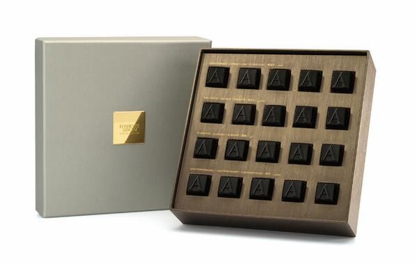 """""""Fondente"""", the new limited edition dark chocolate selection from Armani Dolci."""