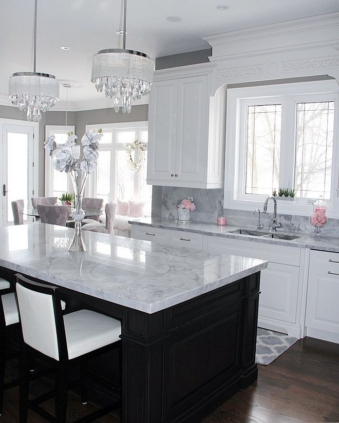 Kitchen Counter And Back Splash Are The Same Dream Kitchen Plus