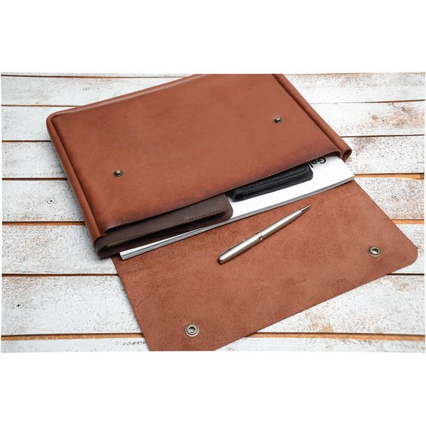 Leather Document Folder Leather Folio Leather Folios Leather Folio a4... ($45) ❤ liked on Polyvore featuring home, home decor, office accessories, grey, home & living, office, office & school supplies, leather document folder, document folder and document file folder