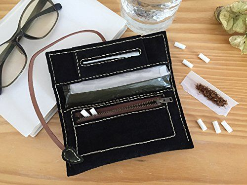 TOBACCO POUCH TheRoadie  #suedecase #tobaccopouch #blacktobaccocase #blacksuede #tobaccocase