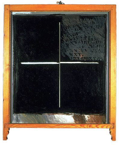 Ralph Hotere - Black Window - Towards Aramoana - Chartwell Collection of contemporary art.  Kids - example of protest painting.