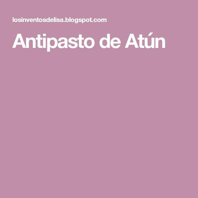 Antipasto de Atún