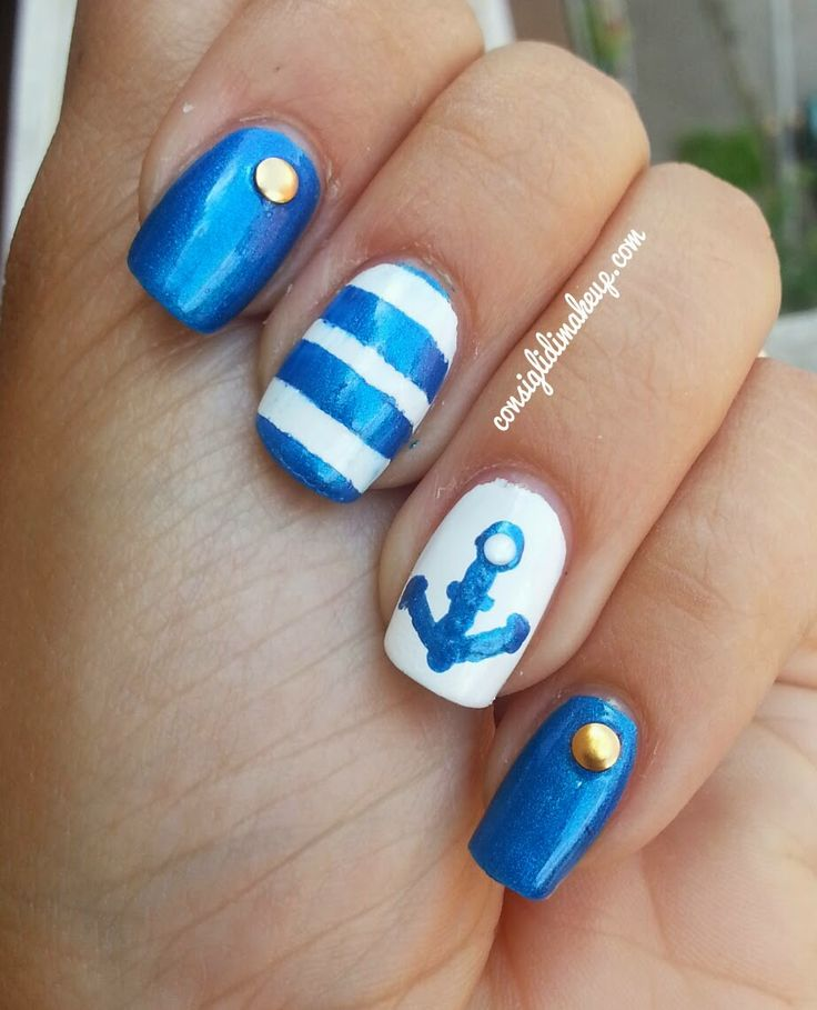 Consigli di Makeup: Tutorial Nail Art Navy