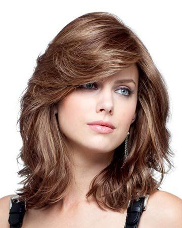 MARIAN Fashion Hairstyles Long Wavy Synthetic Bob Wigs for Women with Bangs ...