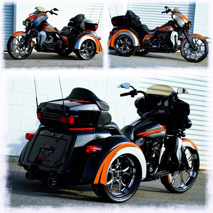 Custom H-D Tri-Glide With 23″ Front Wheel. Http