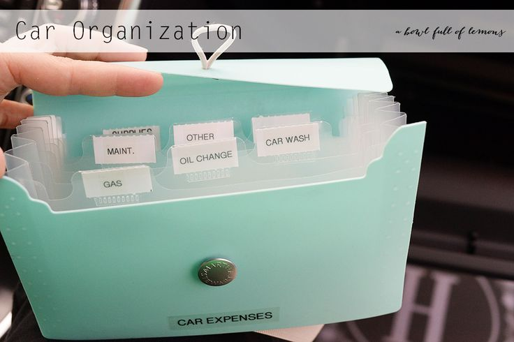 Home Organization 101 Week 15: The Car