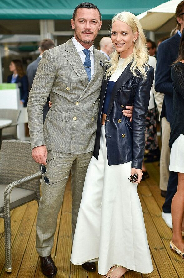 """cultivated-arrogance-blog: """" On Sunday 7/10, Poppy Delevingne + Luke Evans hit up the Polo Ralph Lauren Lounge VIP Suite @ All England Lawn Tennis & Croquet Club at SW19 in Wimbledon. """""""