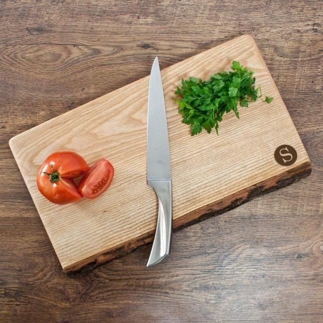 initial chopping board, rustic oak, welsh oak