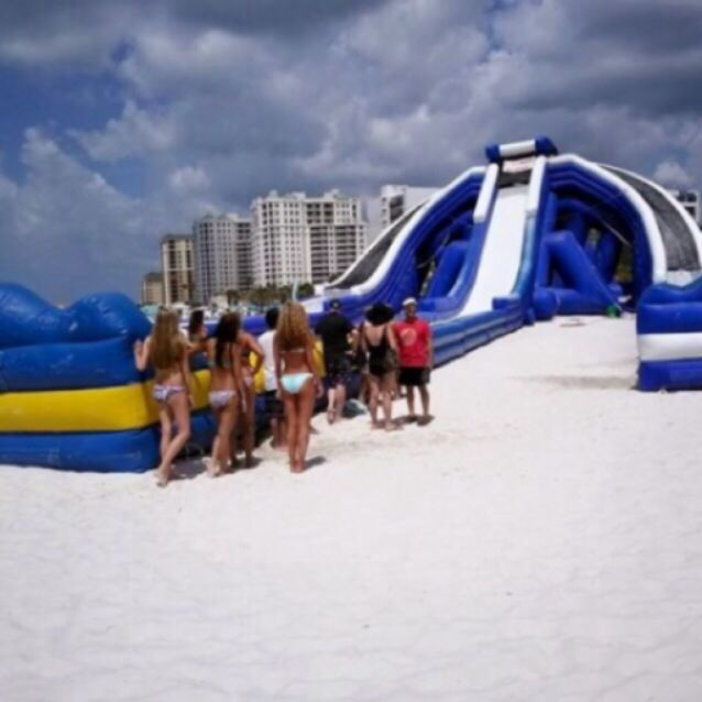 Trippo Water Slide At Clearwater Beach Pier 60 Florida