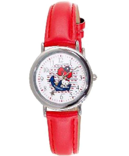 HELLO KITTY Kids Red Leather Strap HK2220-118