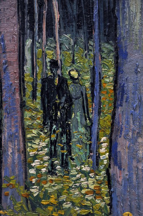 Vincent van Gogh, Undergrowth with Two Figures, 1890.