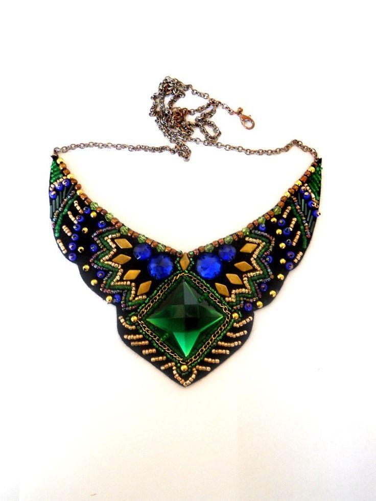 Зеленое ожерелье из бисера из бисера от AniDandelion от AniDandelion