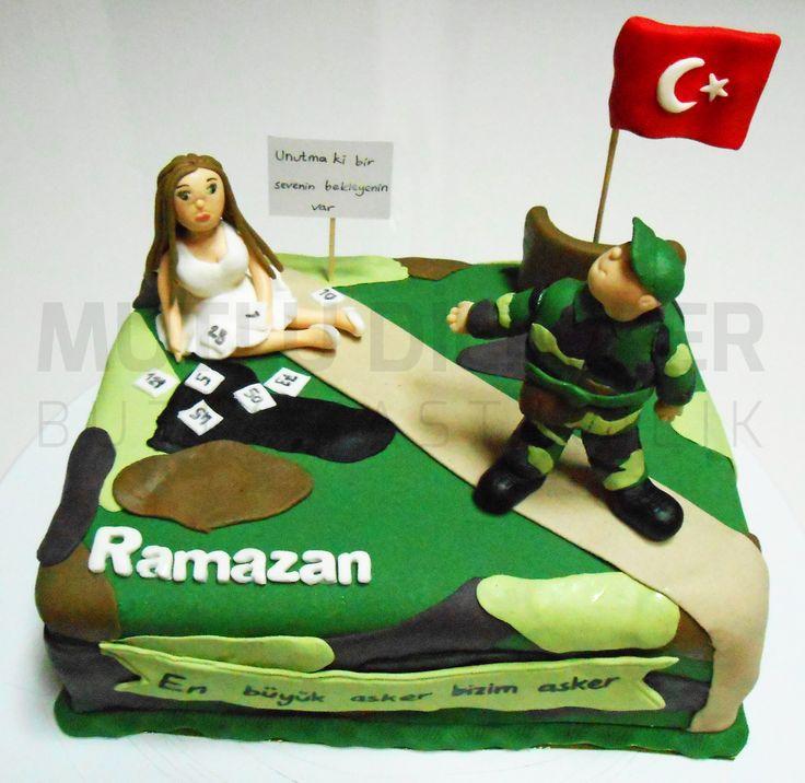Asker uğurlama pastası Farewell to soldier cake  mutludilimler.blogspot.com https://www.facebook.com/mutludilimlerpastacilik