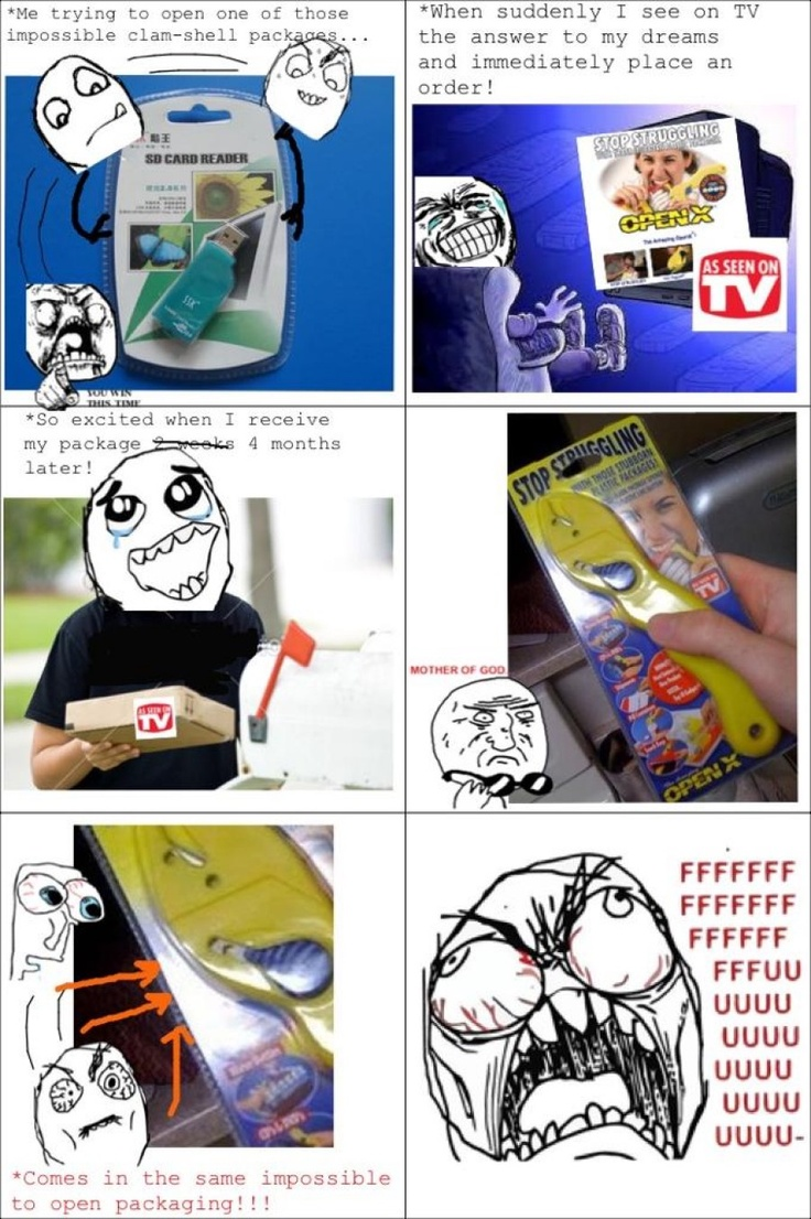 Impossible to open packaging rage. Rage, Rage comics
