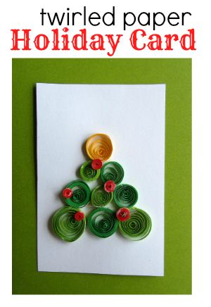 klutz books twirled paper holiday card