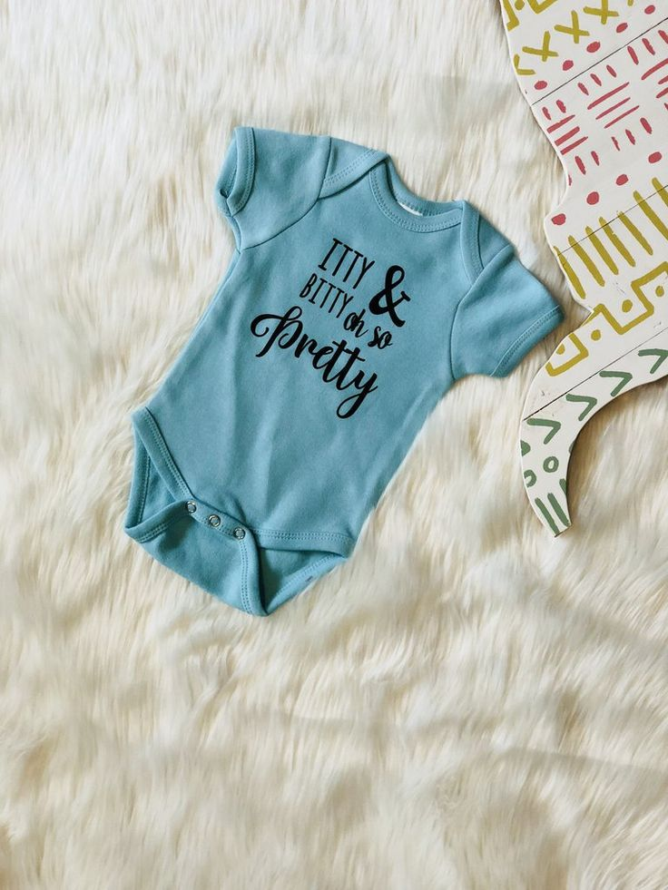 Itty Bitty and Oh So Pretty Baby Onesie
